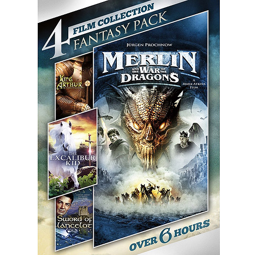 4-Film Collection: Fantasy Pack Sword Of Lancelot   Merlin And The War Of The Dragons   King Arthur, The Young... by