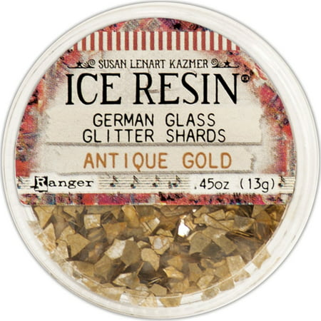 Ice Resin Glass Glitter Shards-Antique Gold ()