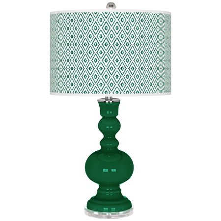 Color + Plus Greens Diamonds Apothecary Table Lamp (Apothecary Foyer Light)