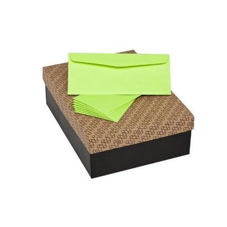 No. 10 Commercial Mohawk BriteHue Ultra Lime Envelopes (4 1/8 x 9 1/2) Vellum Finish 24lb Text 500/Box (M71091) Blue Translucent Vellum Envelope
