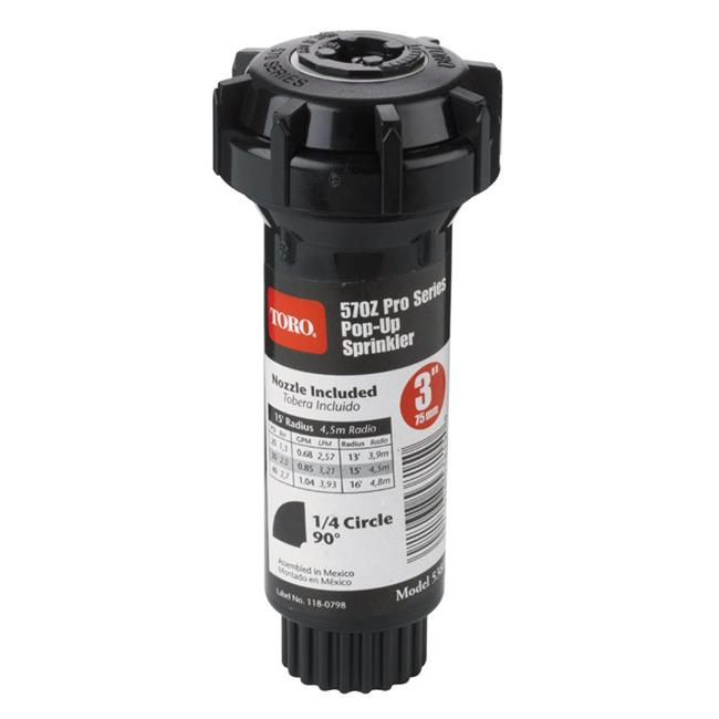 Toro 53813 4-Inch Pop-Up Fixed-Spray with Nozzle Sprinkler 180-Degree 15-Feet
