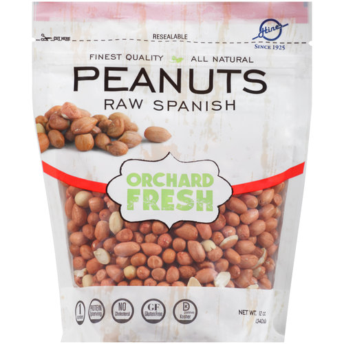 Orchard Fresh  Raw Spanish Peanuts, 12 oz