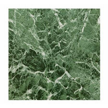 KD0108 12.25 x 1.5 in. Green Marble Peel & Stick Vinyl Floor Tile - 30 Piece - image 1 of 1