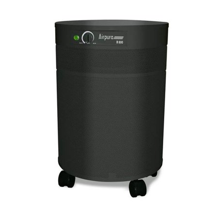 Image of Air Purifier w True HEPA Filter in Black