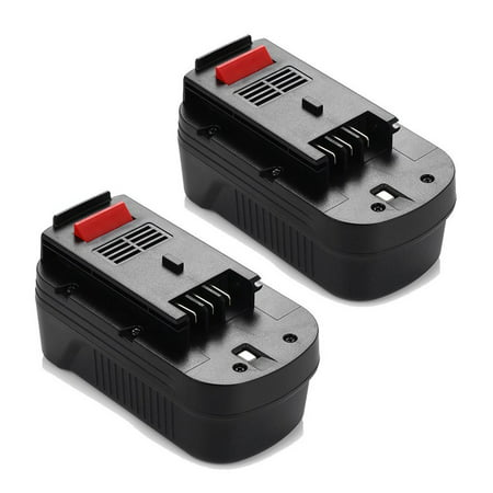 Powerextra 2-Pack 3000mAh 18V Replacement Battery for Black & Decker HPB18 HPB18-OPE 244760-00 A1718 FS18FL FSB18 Firestorm Black and Decker 18 Volt - Fs180bx Fs18bx Fsb18 Power Tools