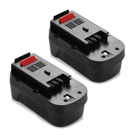 Powerextra 2-Pack 3000mAh 18V Replacement Battery for Black & Decker HPB18 HPB18-OPE 244760-00 A1718 FS18FL FSB18 Firestorm Black and Decker 18 Volt Batteries