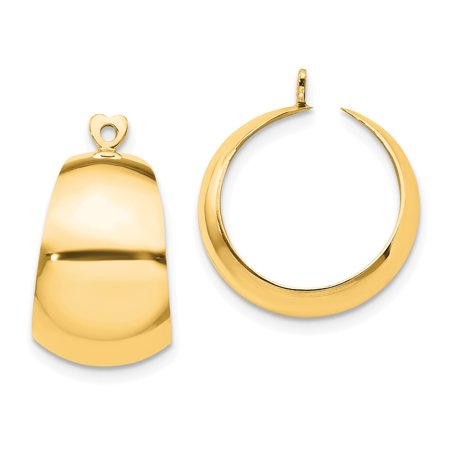 Yellow Jackets Seal Pendant - 14kt Yellow Gold Hoop Earrings Ear Hoops Set Jacket Jackets Studs Fine Jewelry Ideal Gifts For Women Gift Set From Heart