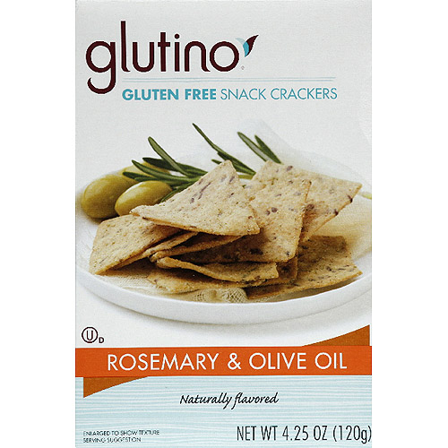 Glutino Rosemary & Olive Oil Gluten Free Snack Crackers, 4.25 oz, (Pack of 6)