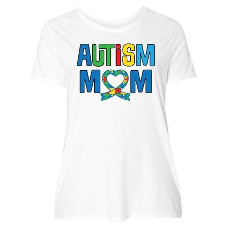 Autism Awareness Mom Puzzle Ribbon Women's Plus Size