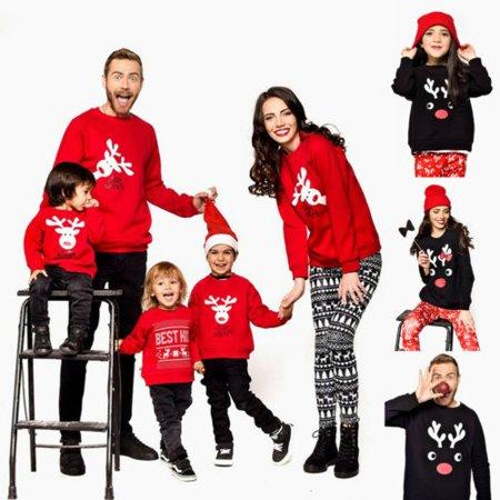 Women Xmas Hoodie Long Sleeve Jumper Sweater Ladies Casual Hooded Christmas Tops ()
