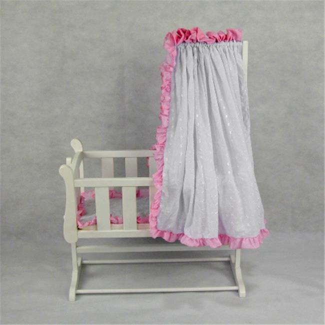 Regal Doll Carriages P659A Stephanie Wooden Doll Bed Rocking Cradle