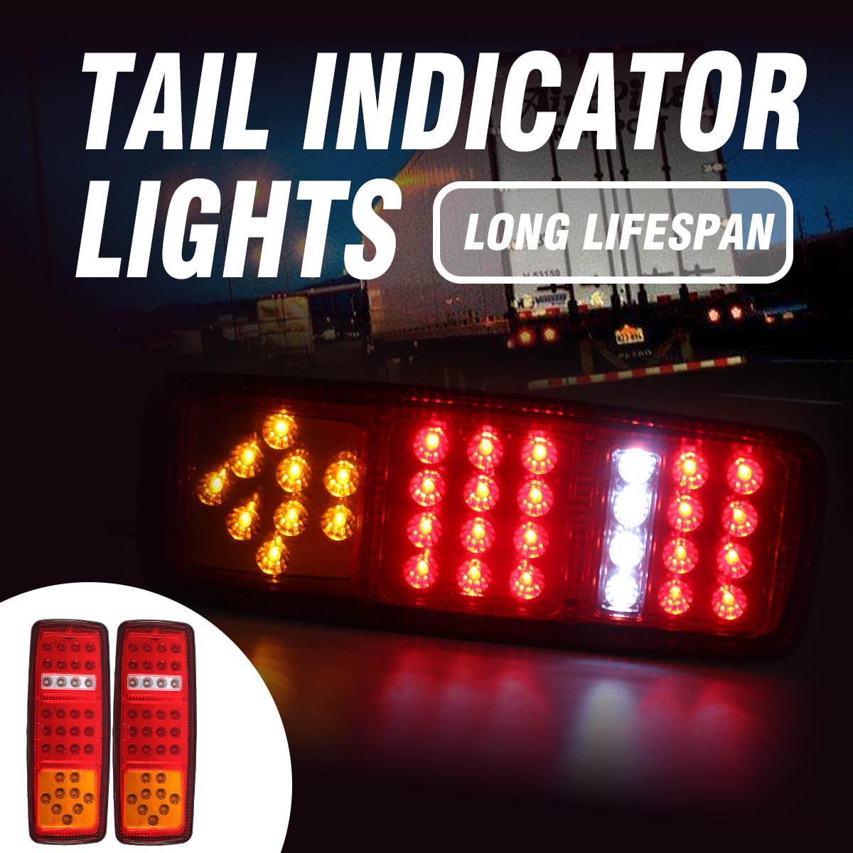 2x 33 LED Stop Brake Rear Tail Light Indicator Reverse Lamp 12V Trailer Truck RV