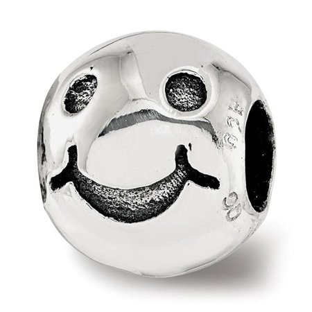 Sterling Silver Reflections Smiley Face Bead - image 1 de 1