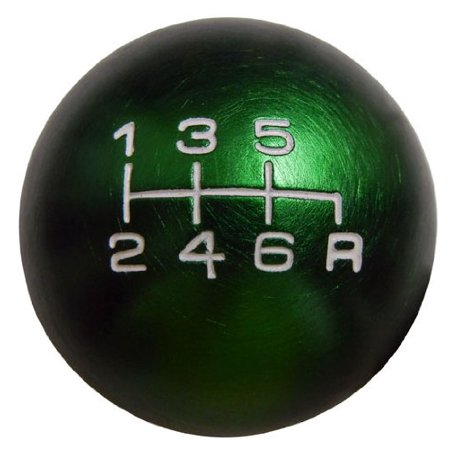 10x1.25mm Thread 6 speed JDM Round Ball Shift Knob in Green Billet Aluminum for 03-08 2003-2008 Nissan 350Z Fairlady Z