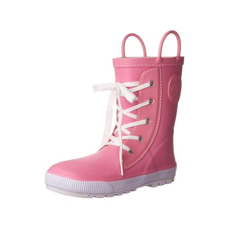 Western Chief Girls Printed Rain Boot, Sneaker Pink, 7 M US - Girls Boot Sneakers