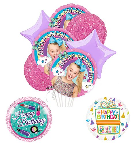 JoJo Siwa Party Supplies and Dream Crazy Big Birthday Balloon ...