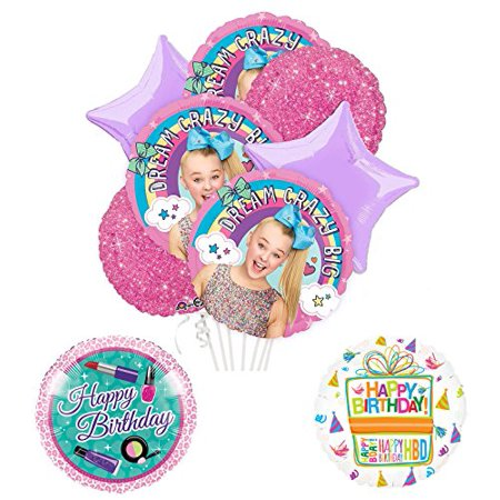 JoJo Siwa Party Supplies And Dream Crazy Big Birthday Balloon