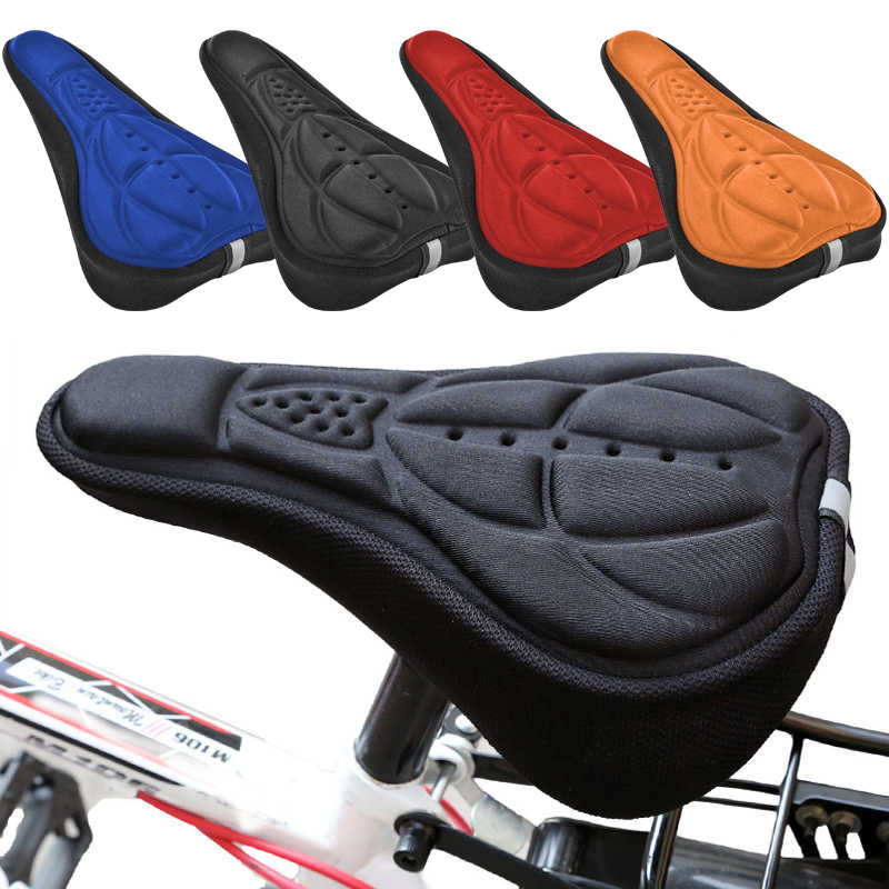 Details about  /Gel Bike Saddle Cover MTB Bike Seat Cover Bicycle Comfort Padded Gel Cushion Pad