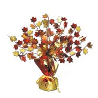 Fall Leaves Gleam 'N Burst Centerpiece Party Accessory (1 count) (1/Pkg), This item is a great value! By Beistle