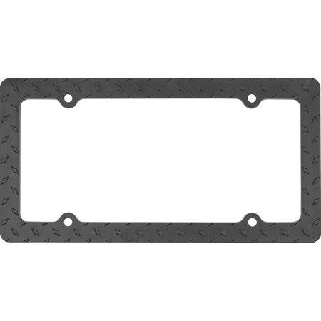 Black Metal Diamond License Plate Frame - Walmart.com