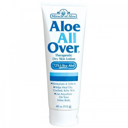 Aloe All Over Therapeutic Dry Skin Lotion with 72% UltraAloe 4 ounce tube