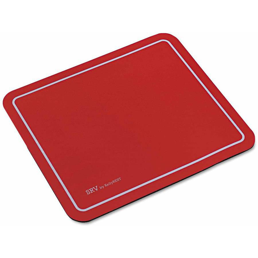 """Kelly Computer Supply SRV Optical Mouse Pad, Nonskid Base, 9"""" x 7-3/4"""", Red"""
