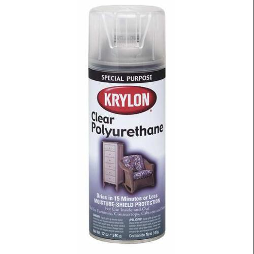 KRYLON K07005 Spray Paint, Clear Polyurethane, Gloss