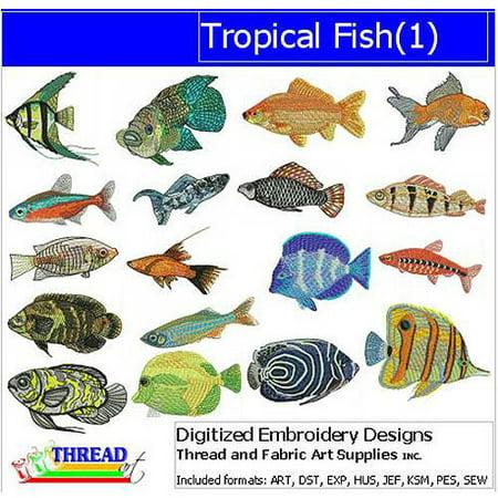 - ThreadArt Machine Embroidery Designs Tropical Fish(1) CD