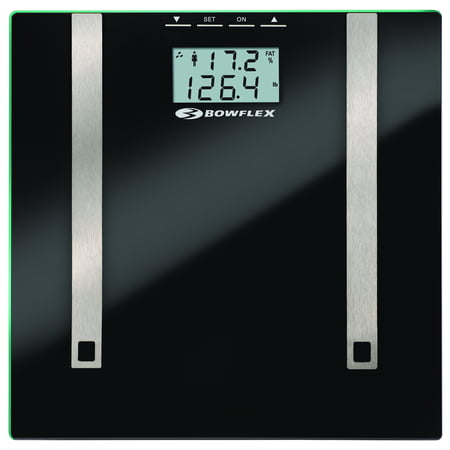 Bowflex 57284072FBOW Electronic Body Fat & Body Water Bath Scale, Black Glass Platform