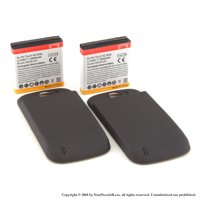 YN4L® 2 X 3600mAh Extended Batteries for HTC Mytouch Slide 4G T-mobile with Black Extended Back Cover