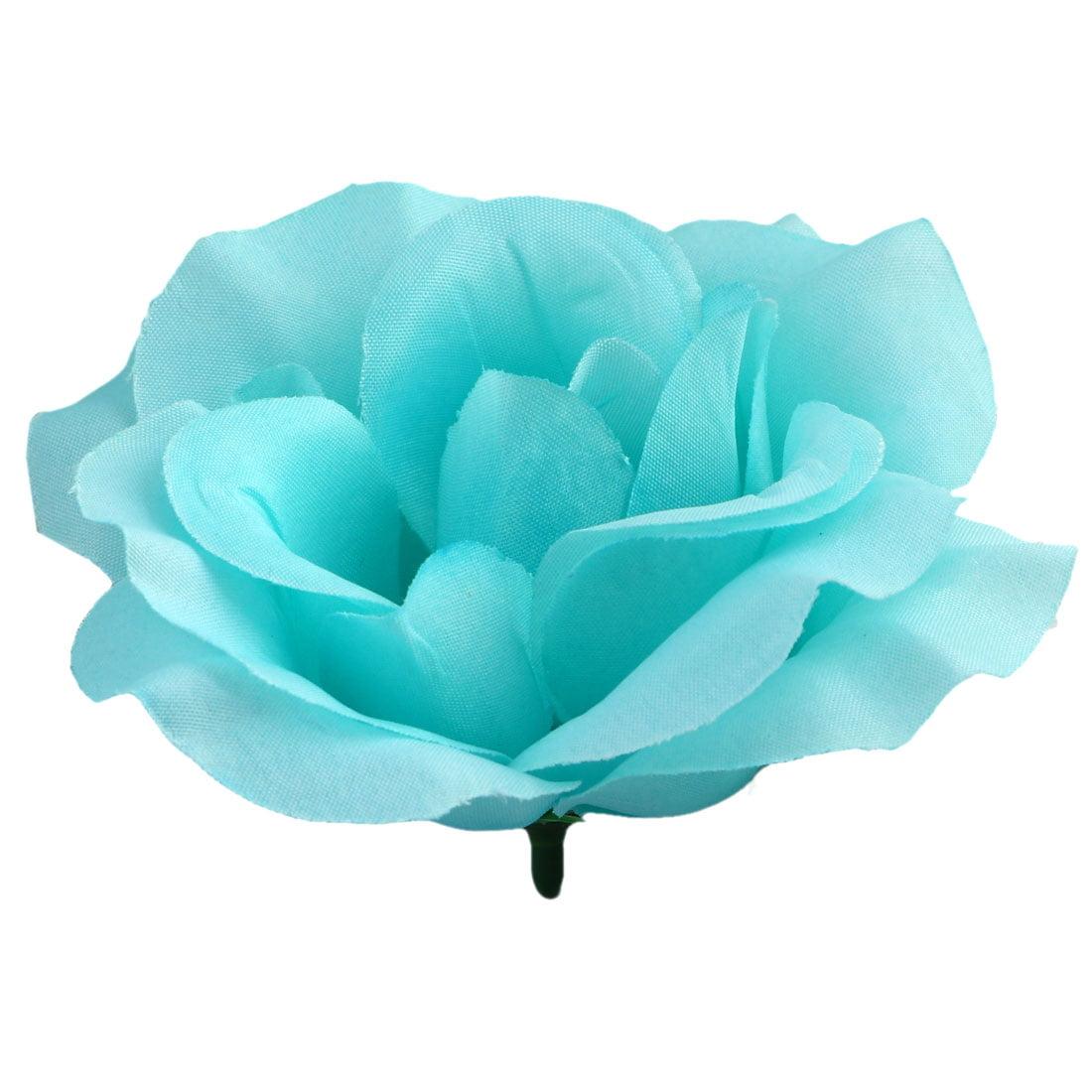Household Table Handcraft Artificial Fabric Flower Rose Petal Head Decor # 4
