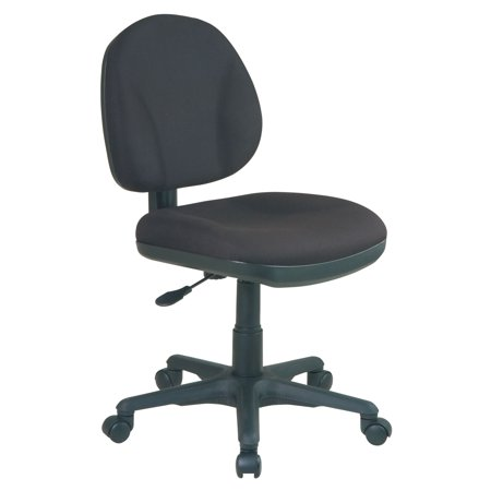 75 Office Star - Office Star Products Work Smart Sculptured Task Chair, Black Icon Fabric