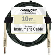 ChromaCast 10-Foot Pro Series Instrument Cable with Straight-Straight Ends, Vanilla Cream