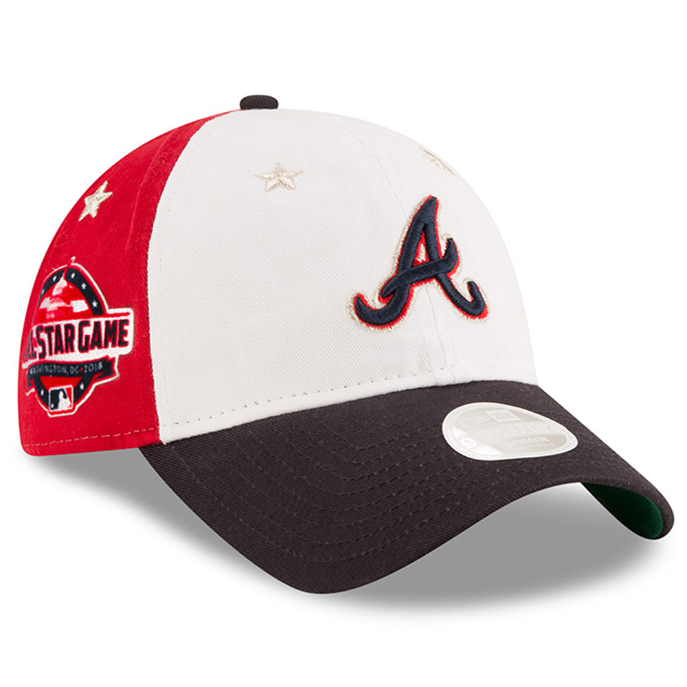 hot sale online 30b2b a91c5 ... cheap product image atlanta braves new era womens 2018 mlb all star game  9twenty adjustable hat