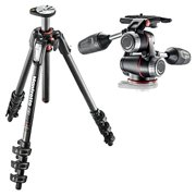 Manfrotto MT190CXPRO4 4-Section Carbon Fiber Tripod Legs with Q90 Column with X-PRO 3-Way Head with Retractable Levers and Friction Controls Bundle