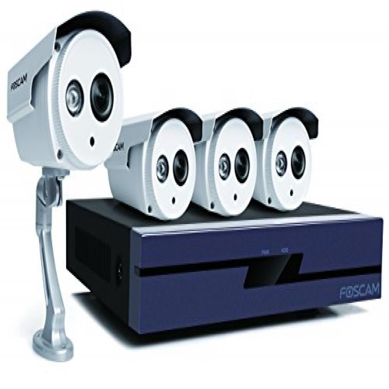 Foscam 720P IP Security System with FN3109H 9-Channel NVR...