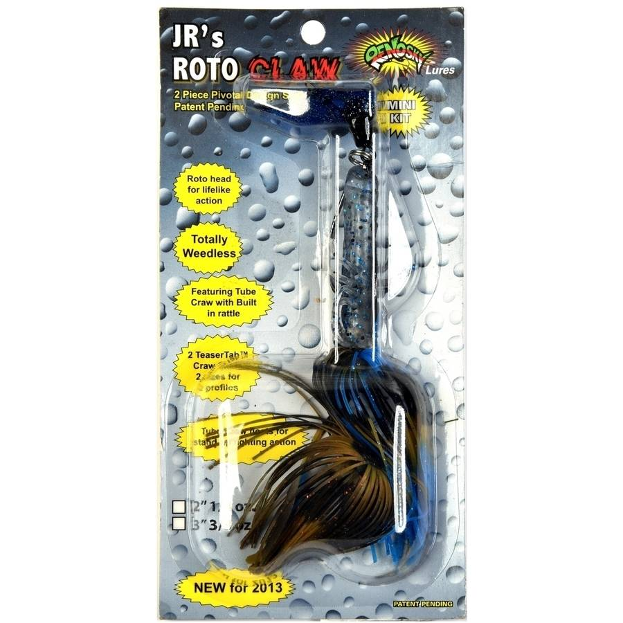 Renosky Lures Roto Claw, 1/4 oz, Blue