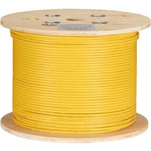Black Box 1000FT CAT6A 650-MHz Bulk Cable- Plenum- F/UTP- Shielding - Yellow