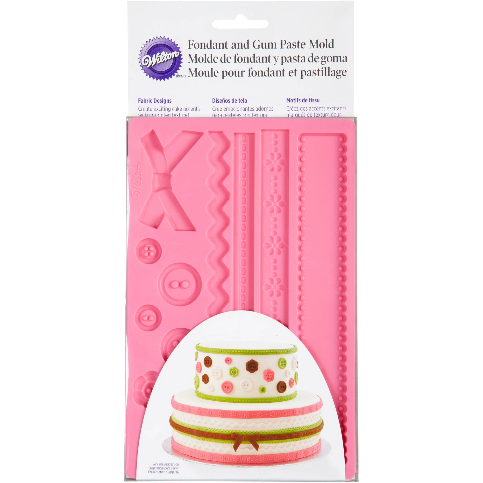 Wilton Fondant & Gum Paste Silicone Mold, Fabric Designs by Wilton