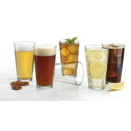 Luminarc 16 fl oz. Glass Drinking Coolers 12 Piece Set, Clear