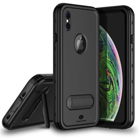 iPhone Xs Max Waterproof Case, CaseTech DOT Series, Shockproof Underwater IP68 Certified Case with Built-in Screen Protector Full Body Cover, 2018 Releasted 6.5