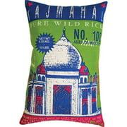 Koko Company 91611 Rice- Pillow- 13X20- Cotton- Taj Mahal Print.