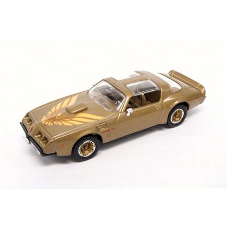 Firebird Track Top - 1979 Pontiac Firebird Trans AM T-Top, Gold - Road Signature 94239 - 1/43 Scale Diecast Model Toy Car