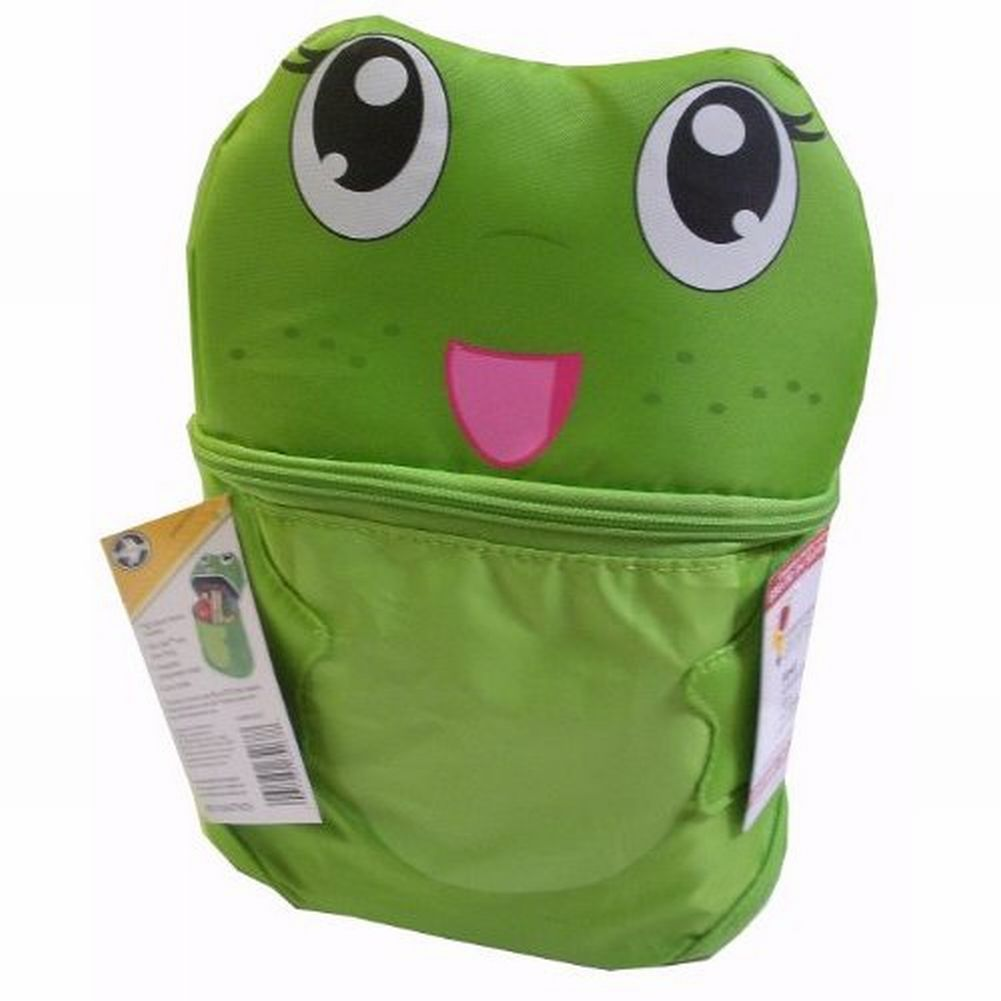 Artic Zone Green Frog Soft Lunch Box Insulated Bag 2 Compartment Toad Lunchbox