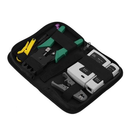 Portable Crimping Maintenance Repair Computer Network Repair Tool Bag Kit