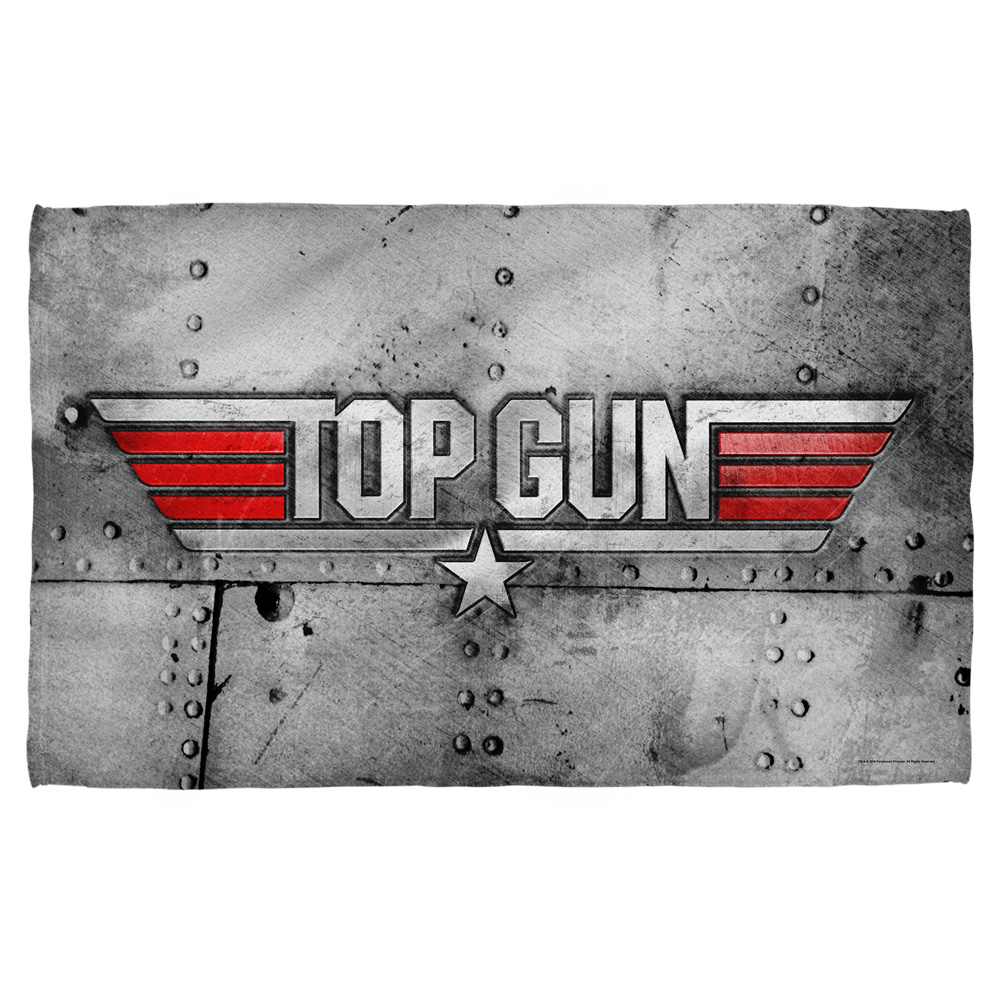 Top Gun Logo Beach Towel White 36X58