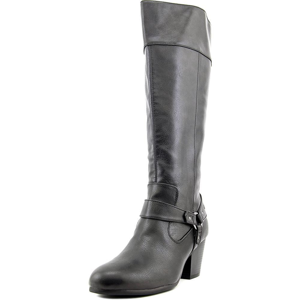 A2 By Aerosoles Creativity Women Round Toe Canvas Black Knee High Boot by A2 By Aerosoles