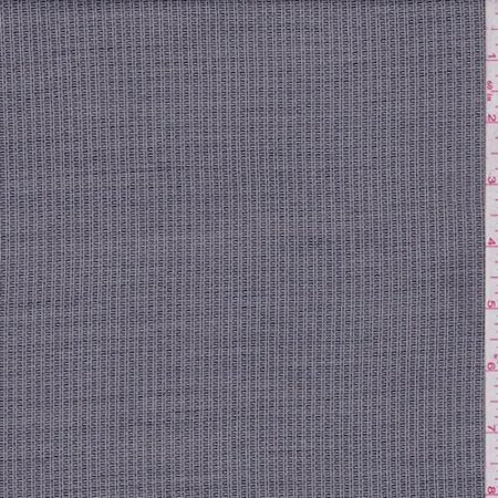 Blend Iron - Steel Grey Railroad Stripe Wool Blend Suiting, Fabric By the Yard