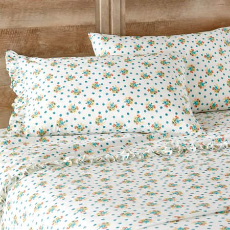 The Pioneer Woman Ditsy Floral Ruffle Queen Sheet Set (250 Sheet Duplexer)