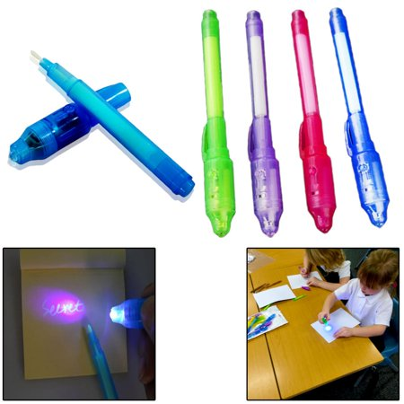 Halloween Magic Kingdom 2019 (2019 Upgraded Spy Pen Invisible Ink Pen with UV Light Magic Marker for Secret Message and Kids Halloween Goodies Bags Toy (4)
